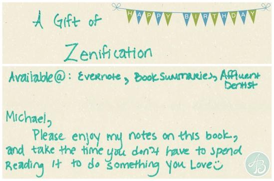 collage - gift of zen - affluent dentist card