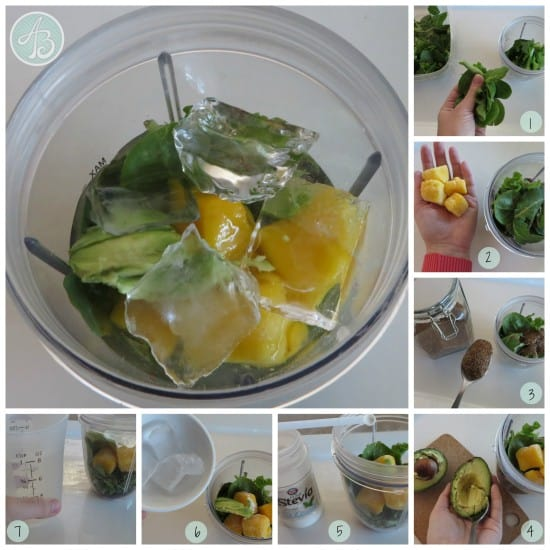 collage - green smoothie how to
