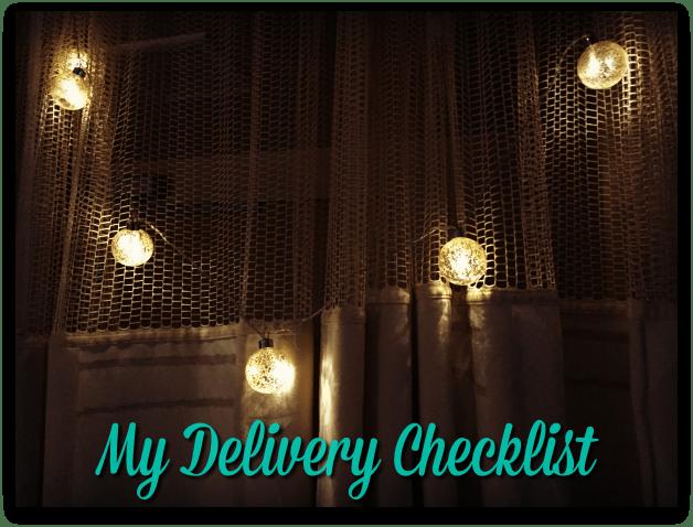 Delivery Checklist